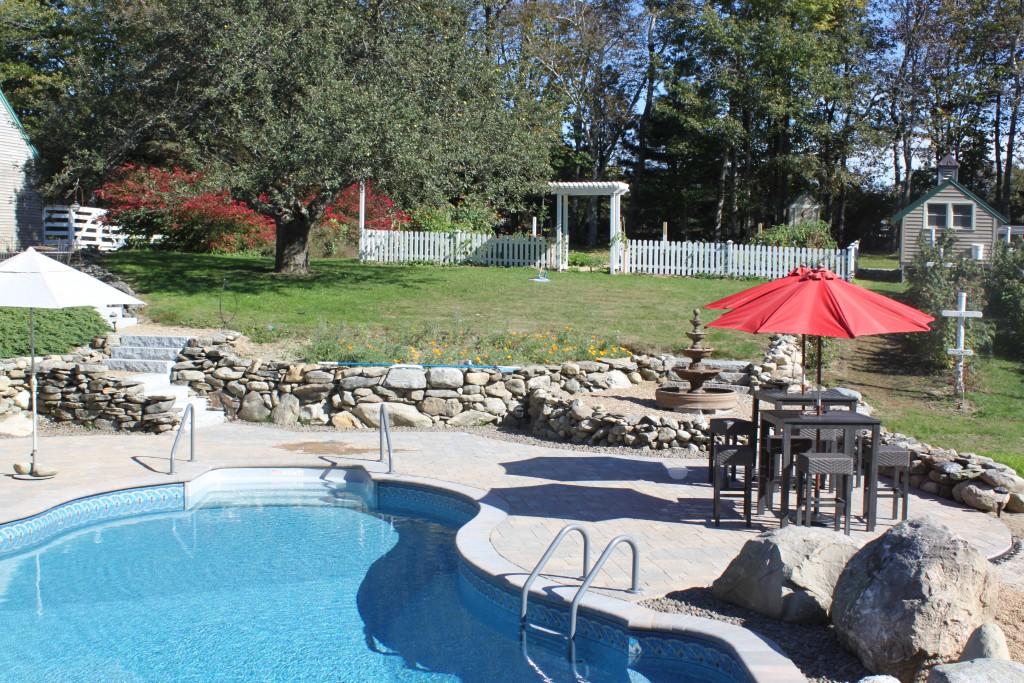 pool patio install