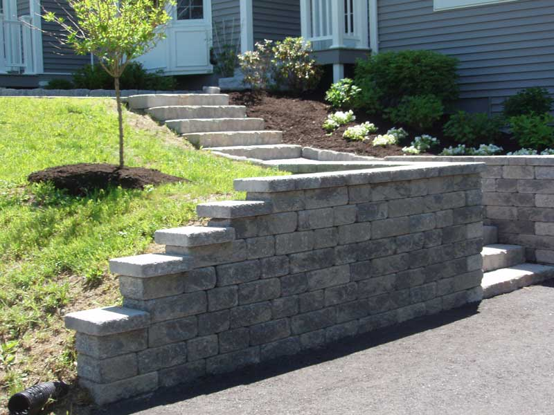 Retaining Walls Staircases Carrier Landscape